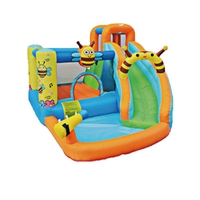 3 5 Kids Summer Water Fun Yard Garden Family Spray Water Inflatable Bee Water Park Slide with Pool Water Gun