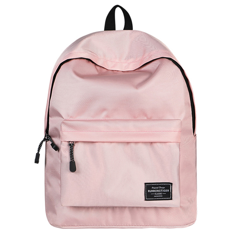 Brand New Solid Backpack Bag Large Capacity Travel Waterproof High Quality School for Teenage girl Durable Pink