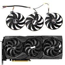 Ücretsiz kargo T129215SU 7Pin GPU kartı soğutucu ASUS ROG STRIX-GeForce RTX 2060 2080 2080 Ti veya RX 5600 XT RX 5700XT Fan