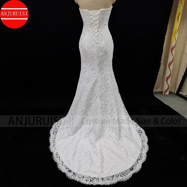 Lace Wedding Dress Mermaid Vestido De Noiva 2020 Gown Robe Mariage Vestito Da Festa Di Nozze Suknia Slubna Trouwjurk Simple Boda 5