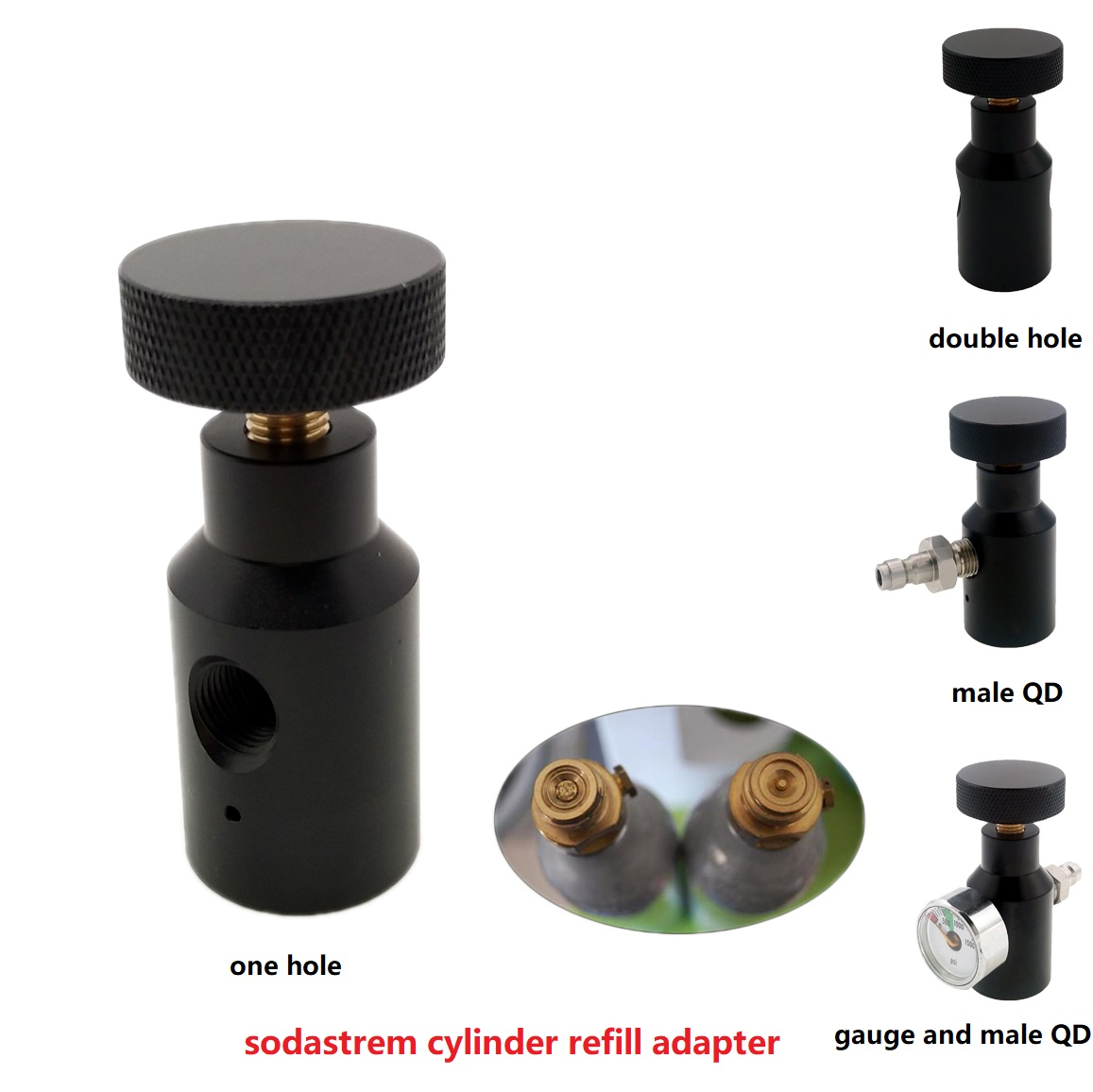Sodastream Tank/Cylinder Fill Station On/Off Aadaptor Refill Adapter For Quick Charging