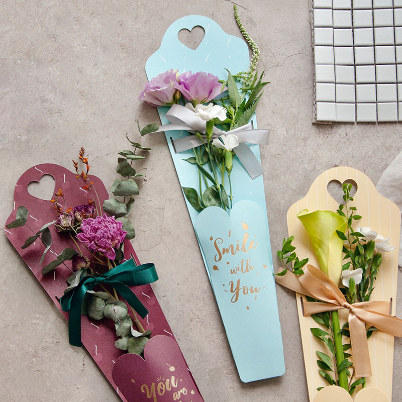 6pcs Design Single Flower Box Flower Flower Packaging Box Tanabata Teacher Festival Hot New Products in Gift Bags Wrapping Supplies from Home Garden