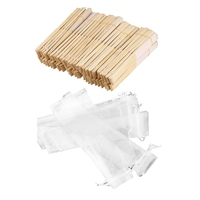 50Pcs White Drawstring Organza Folding Hand Fan Pouch Party Wedding Favor Gift Bags & 50Pcs Fans in White Fabric and Bamboo Pe