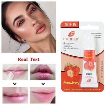 Strawberry Fruit Extract Serum Lip Care Liquid Lip Balm Gel Moisturizing Exfoliating Anti-cracking Lip Oil Gel Balsamo Labial image