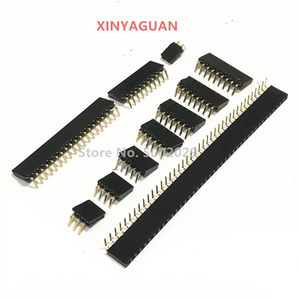 Single row female 2.54mm Pitch 1*2/3/4/5/6/7/8/9/10/20/40 PiN Single Row Right Angle Female PCB Header Connector For Arduino