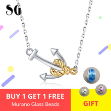 Hot Classic 925 Sterling Silver Elegant Anchor Pendant Necklaces Women Fashion Jewelry Engagement & Wedding Gift