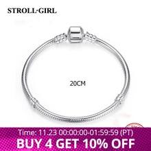 Strollgirl 925 srebro oryginalna bransoletka i bransoletka Charms luksusowa moda Diy tworzenia biżuterii dla kobiet New Arrival