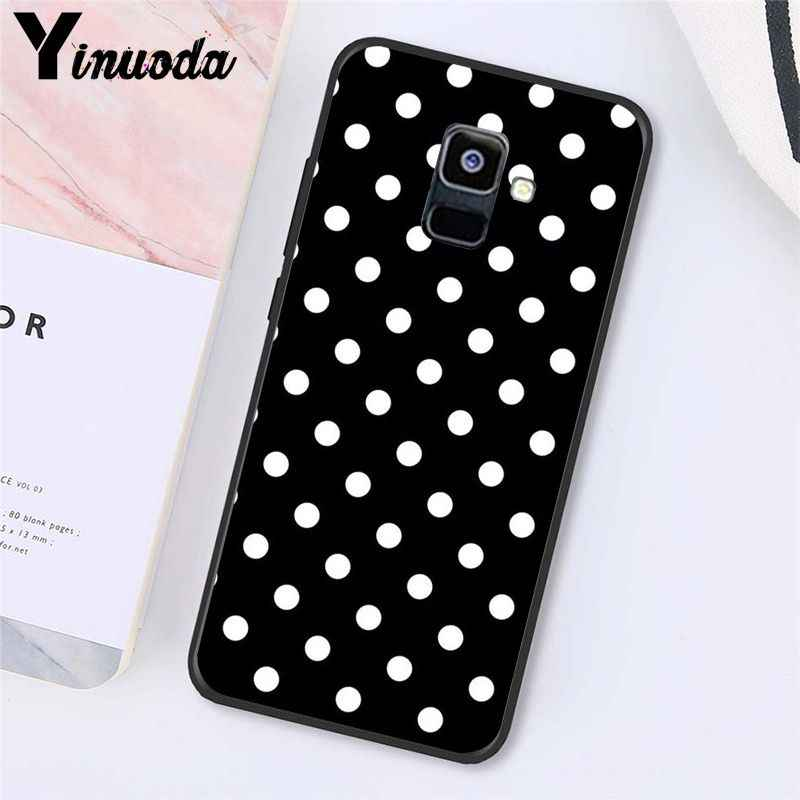 Yinuoda Polka kropki Art Silver Star etui na telefon do Samsung Galaxy A7 A50 A70 A20 A30 A40 A8 A6Plus A8Plus A9 2018