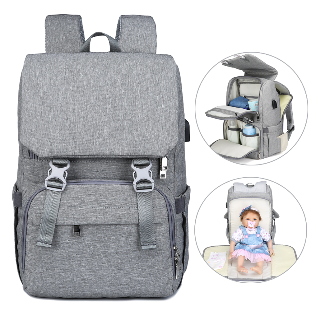 Fashion Mummy Large Capacity Baby Diaper Bag Backpack Usb Charging Maternity Bags For Babies Waterproof Nappy Bag Travel Pack