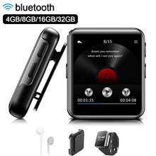 Mini Clip MP3 Player bluetooth with 1.54 Inch Touch Screen Portable MP3 Music Player HiFi Metal Audio Player with FM for Running(China)