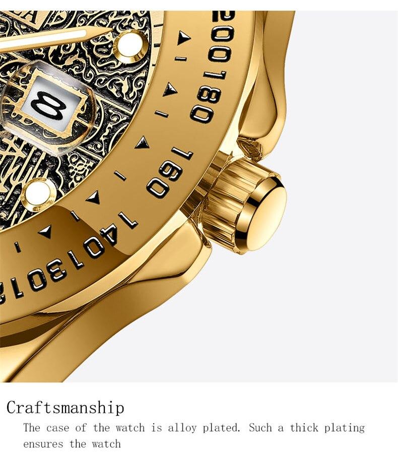 Marca onola clássico moda luxo retro aço