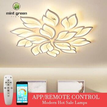 New Arrival LEDs Chandelier Modern Flowers For Living Room Bedroom remote control/APP support Home design lighting fixture