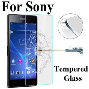 Image 1 - 2Pcs/Lot 9H 0.3mm 2.5D Tempered Glass For Sony Xperia Z3 Compact Z1 Z2 Z4 Z5 Premium Anti Explosion Screen Protector