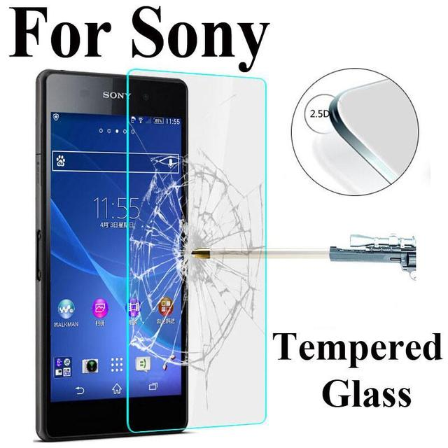 2Pcs/Lot 9H 0.3mm 2.5D Tempered Glass For Sony Xperia Z3 Compact Z1 Z2 Z4 Z5 Premium Anti Explosion Screen Protector