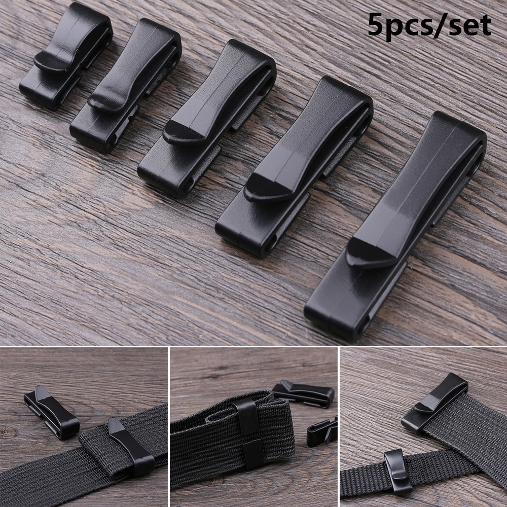 5PCS Molle Webbing Waist Buckle Strap Belt End Clip Adjust Keeper Tactical Backpack Buckles Camping Hiking Outdoor Military Tool
