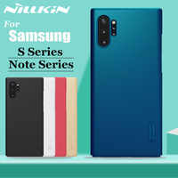 Nilkin for Samsung Note 10 9 8 Plus Case Cover Nillkin Frosted Matte Hard Plastic Case for Samsung Galaxy S10 S9 S8 S7 Plus S10E