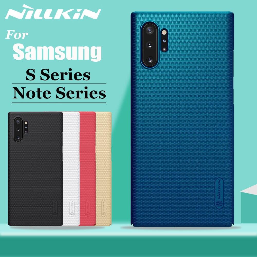 Nilkin para Samsung Nota 10 9 8 Mais Caso Capa Nillkin Fosco Matte Hard Case Plástico para Samsung Galaxy S10 s9 S8 S7 Plus S10E