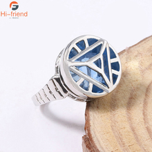 Marvel Avengers Iron Man Ring Red Color Arc Reactor Jewelry For Woman Gift Souvenir