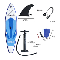 320x76x15cm Inflatable Surf Stand Up Sup Paddle Board PVC Surfingpaddleboard Wakeboat Bodyboard Kayakboat Water Sports Tools
