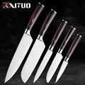 XITUO набор кухонных ножей из нержавеющей стали для очистки овощей сантоку шеф-повар нарезанный Фруктовый нож хлебные ножи японский Деревянн...