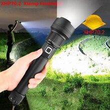 Ультраяркий светодиодный фонарик XLamp XHP70.2, самый мощный фонарь с аккумулятором 18650, USB и зумом, XHP70, XHP50, 26650