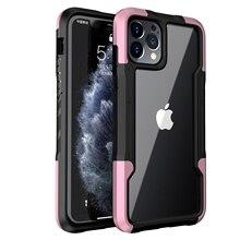 À prova de choque resistente impacto tpu macio caso do telefone para o iphone 12 11 pro max xs max xr x 7 8 plus 12mini dupla proteger capa clara