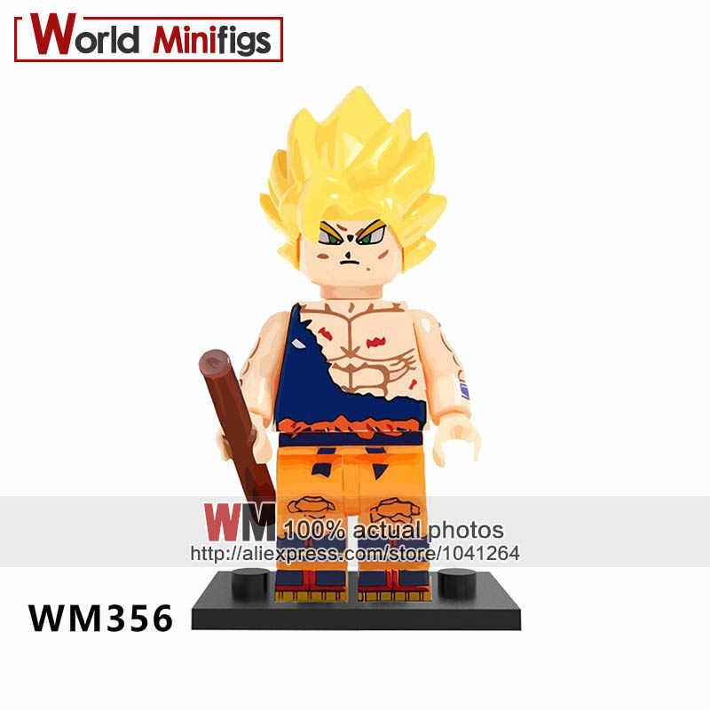 Único WM356 Son Goku Dragon Ball Z Vegeta Cabelo Amarelo Blocos De Construção de Super Heróis s Mestre Kame Presente Das Crianças