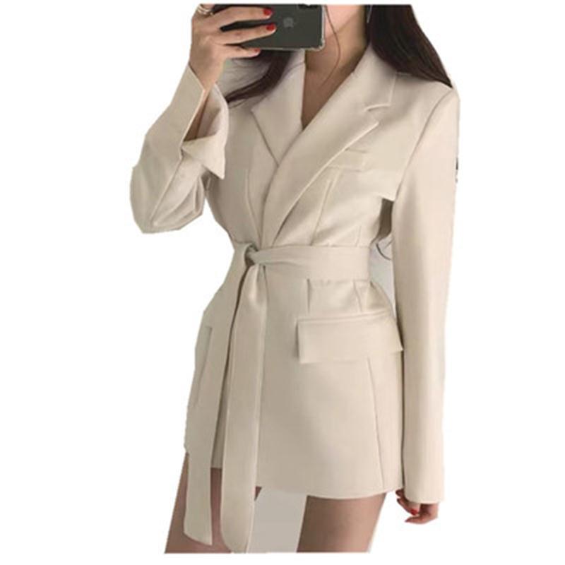 Fashion Blazer Women Jacket Female Autumn New Retro Belt Casual Temperament Loose Suit Women Jacket Female Blazer Women