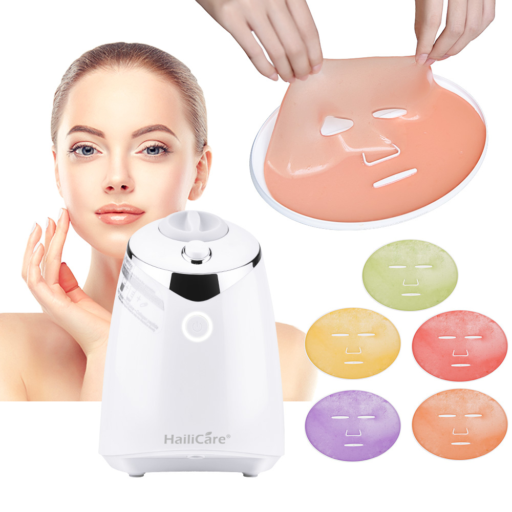 Elétrica automática máquina de máscara de frutas diy natural fruta vegetal leite facial masker maker com 32 pcs colágeno comprimidos