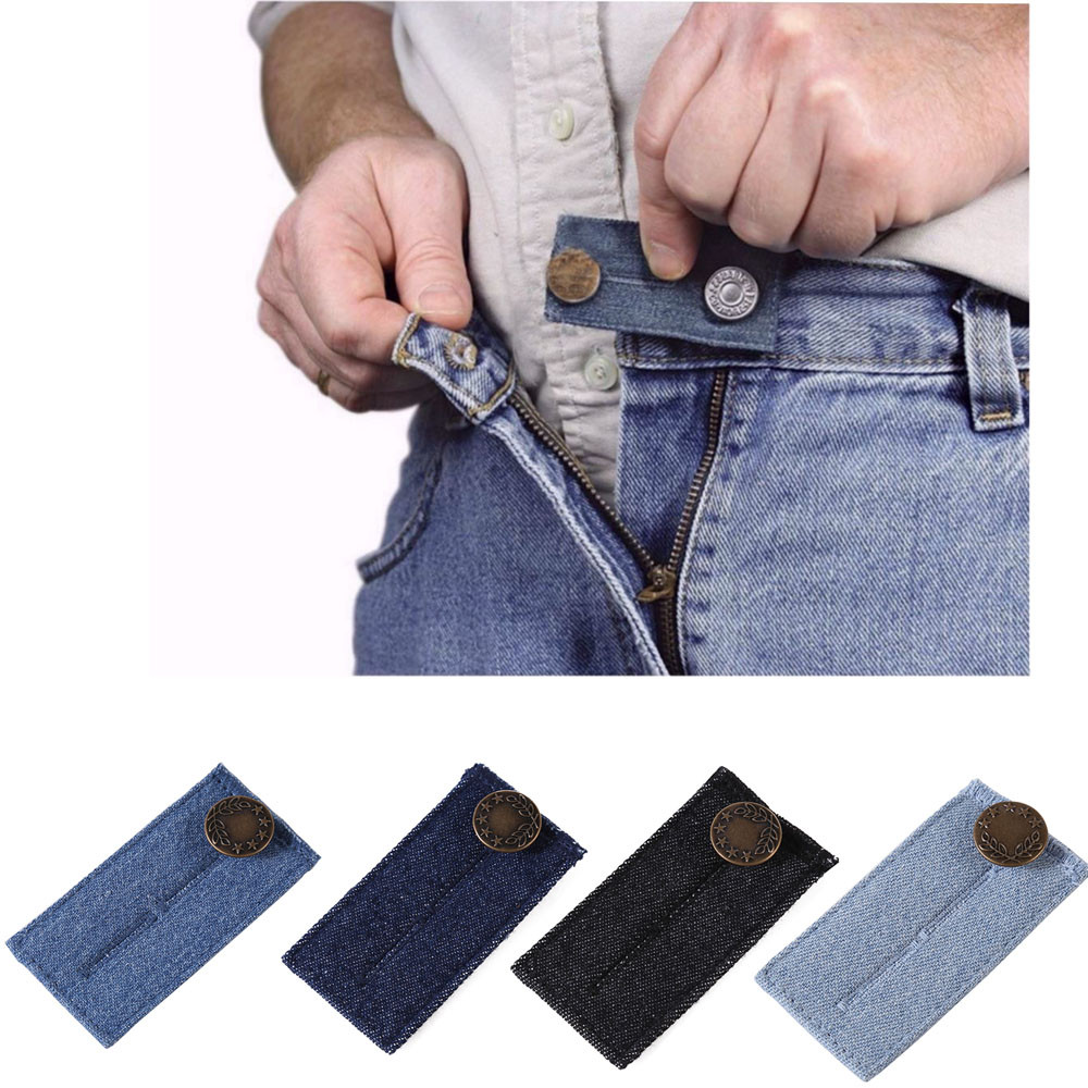 1 Pack Elastic Waistband Extender Soft Pants Belt Extension Buckle Button Lengthening Women Easy Fit Adjustable D2