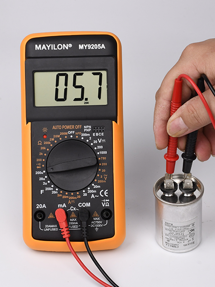 Professional Multimeter Diode-Tester Voltage-Current-Resistance Capacitance Bazzer DC