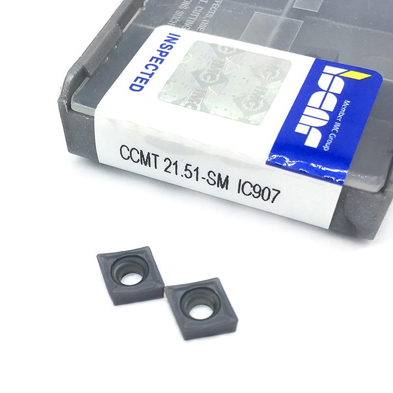 20PCS CCMT060204 SM IC907 External Turning Tools Carbide Insert Lathe Cutter Tool Tokarnyy Turning Insert