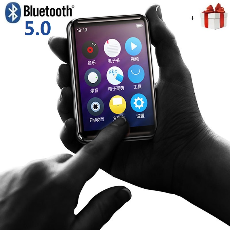 Original BENJIE X5 Full Touch Screen Bluetooth MP3 Player 8GB/16GB E-book FM Radio HiFi Lossless Music Video Player With Speaker