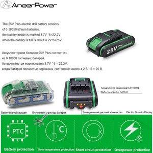 Image 3 - Аккумуляторная дрель 25V Plus, электрическая дрель, 2 батареи, мини отвертка, электроинструменты, затягивание и ослабление Отвинчивания