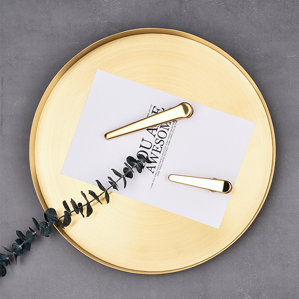Exquisite Home Gold Kitchen Space Saving Round Shape Jewelry Display Decorative Storage Tray Desktop Stainless Steel Bathroom