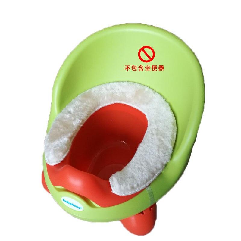 Children Toilet Mat Baby Toilet Warm Seat Cushion Kids Winter Anti-Cold Thick Plush Cover Cotton Cushion Flannel Cushion