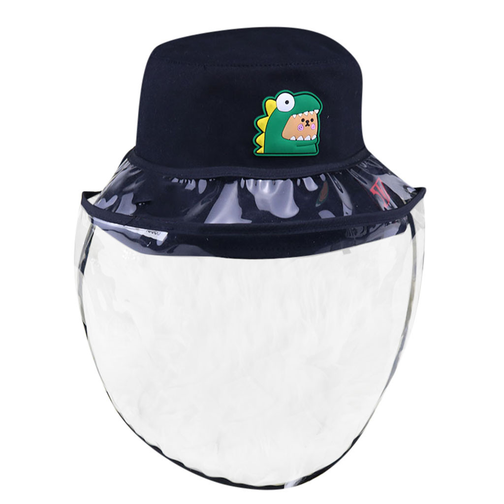 Dustproof Cover Cap With Transparent Shield Screen Mask Fishing Hat Unisex Protection Fabric Dust Mouth Mask #B