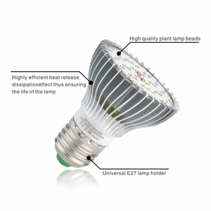 Image 2 - Светодиодный Grow светильник E27 полный спектр 18 Вт 28 Вт 30 Вт 50 Вт 80 Вт для гидропоническая посадка светильник AC85 265V 110V 220V Светодиодный лампа для выращивания растений с питанием от источника