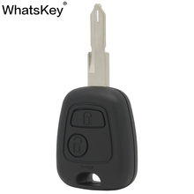WhatsKey Top Quality 2 Button Remote Car Key Shell Cover Fob Case For Citroen C1 C2 C3 C5 C4 For Peugeot 207 407 206 307 2 button auto key blank fob shell replacement case cover for peugeot 107 207 307 407 106 206 306 406 citroen c1 c2 c3 c4 xsara