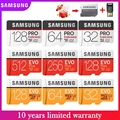 Новинка, оригинал, SAMSUNG EVO Plus/PRO Micro SD 256G 128 ГБ, 64 ГБ, 32 ГБ, карта памяти, U3 U1 C10 4K со сверхвысоким разрешением Ultra HD, MicroSDXC/SDHC TF карта флэш-карты