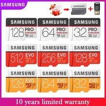 Nuevo Original SAMSUNG EVO Plus/PRO Micro SD 256G 128G 64G tarjeta de memoria de 32GB U3 U1 C10 4K Ultra HD MicroSDXC/SDHC/SD TF tarjeta de memoria Flash