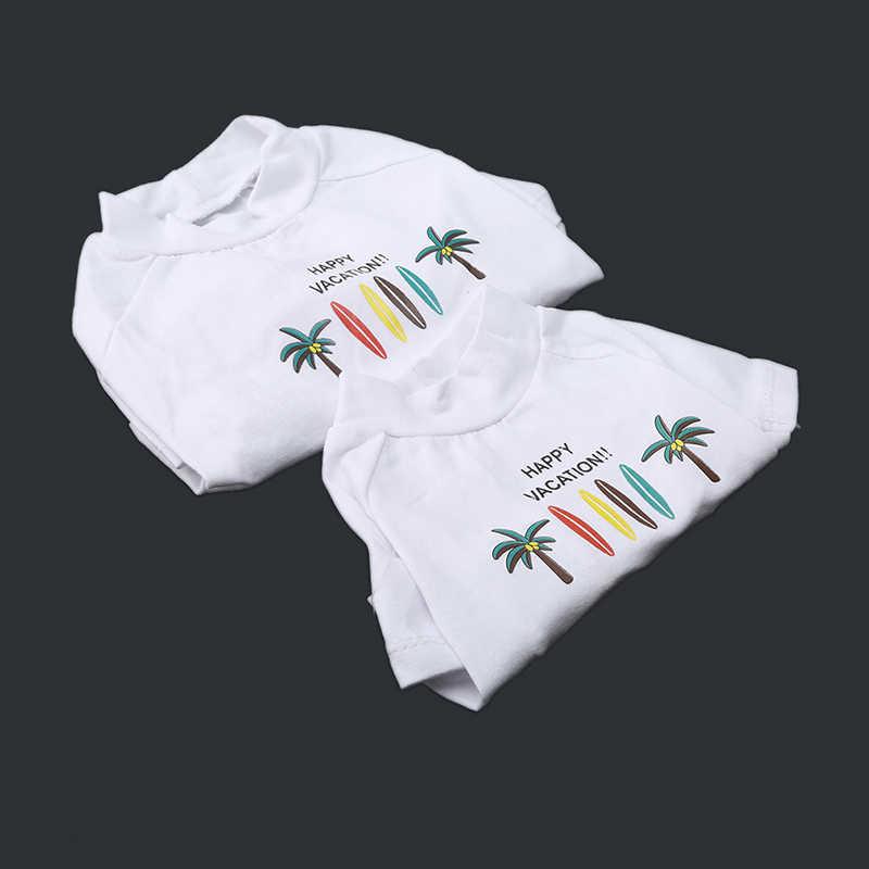 Ropa para mascotas perros gatos ropa verano primavera camisetas transpirables para cachorro mediano pequeño estampado de dibujos animados camisa Casual