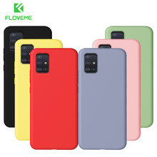 FLOVEME Case For Samsung Galaxy A51 A71 Case Liquid Silicone Soft Back Cover Phone Case For Samsung A71 SM A515F A717F A 51 71(China)