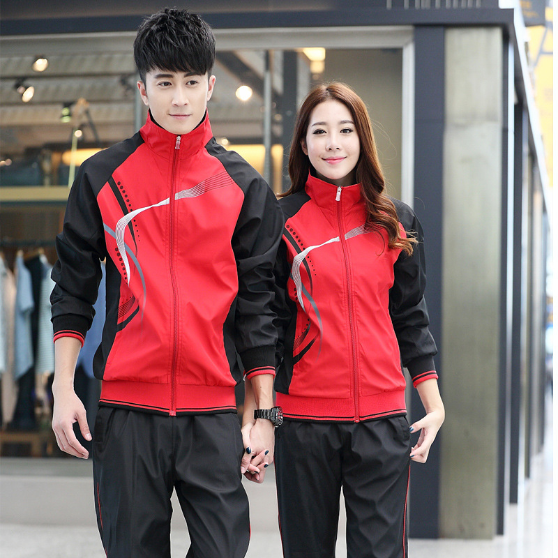 Spring And Autumn School Uniform Set COUPLE'S Casual Running Sports Clothing Men Long-sleeve Suit Women's