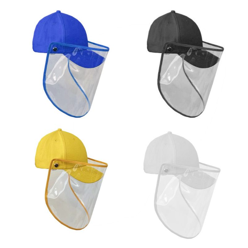 Child Anti-saliva Dust-proof Baseball Cap With Full Face Protective Cover Mask Visor Shield Kids Outdoor Casual Protector Hat