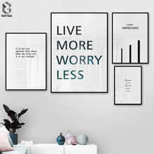 Black White Motivational Life Quote Canvas Posters Inspirational Minimalist Print Wall Art Painting Nordic Decoration Pictures
