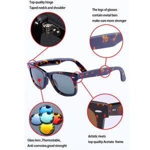 Image 5 - Lente de vidro óculos de sol óculos masculino de armação de Acetato de mulheres de luxo da marca homens UV400 óculos de sol oculos de sol feminino 2140