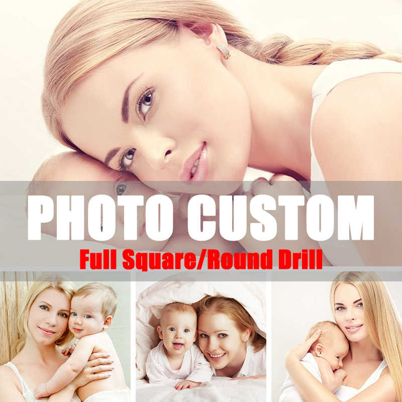 Photo Custom 5D Diy Diamond Painting Diamond Embroidery Make Your Own Diamond Painting Wedding Portrait DIY Hobby Gift Family