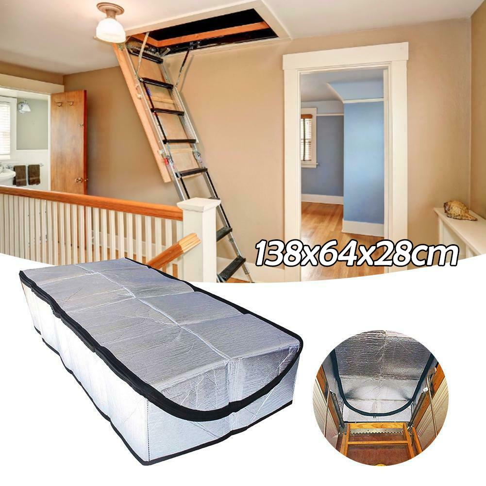 Fireproof Attic Tent Insulation Cover Attic Door Attic Stairway Insulator Ladder Insulation Cover Double-sided Aluminum Foil