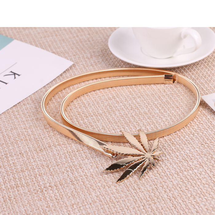 H847da581e5364530b814b80572d74801o - Metal Belts for Women Designer Brand Women Skinny Bow knot Belt Female Gold Silver Color Waist Chain Elastic Thin Cummerbunds